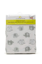 Cuddle Time Elephant Fitted Crib Sheet Neuitral