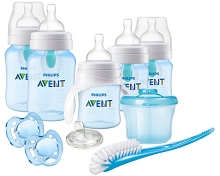 Avent Anti-Colic Bottle with AirFree Vent Gift Set-Boy