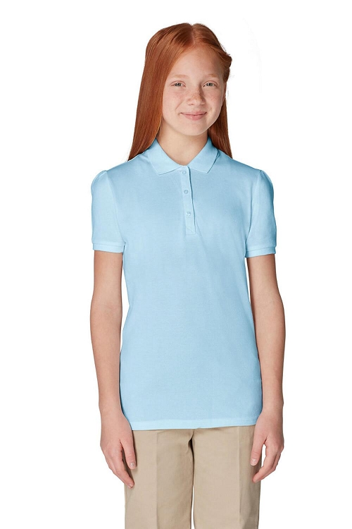 French Toast 50% Off School Uniform Girl Polo, Light Blue