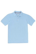 French Toast School Uniform 50% Off Skinny Polo, Girl  Light Blue