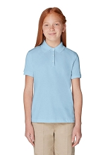 French 50% Off School Uniform Girl Polo Light Blue