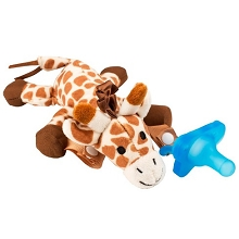 Dr Brown's Giraffe Lovey with Blue One-Piece Pacifier