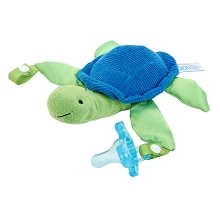 Dr Brown' s Turtle Lovey with Blue One-Piece Pacifier