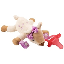 Dr Brown's Deer Lovey with Pink One-Piece Pacifier