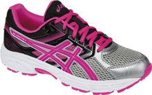 Asics 60% Off Running Kids Gel Contend Silver-Pink-Black