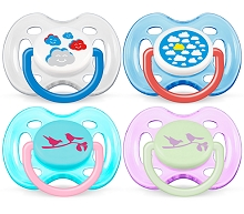 Avent Classic Pacifier 0-6m BPA Free, 2 Pack