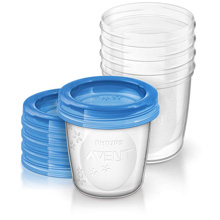 Phillips AVENT Breast Milk Storage Cup, Small 5 Pack
