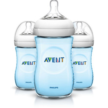 Philips AVENT Natural Baby Bottle, 9oz Slow Flow Nipple 1m+, 3 Pack