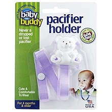 Baby Buddy Bear Pacifier Holder Lavender