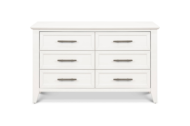 Franklin & Ben Beckett 6-Drawer Dresser in Warm White