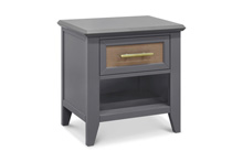 Franklin & Ben Beckett Nightstand  Stone and Dark Ash