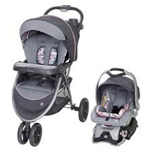 Baby Trend Skyview Plush Travel System Bluebell