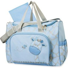 Tender Kisses Giraffe 2-in-1 Diaper Bag Blue