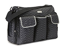 Baby Boom Carter's 3 Pocket Duffle Bag Black-Grey