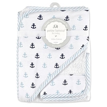 Petite L'amour Sailor Hooded Towel with Washcloths