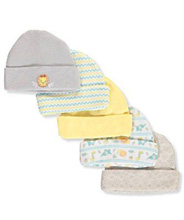 Regency Baby Cribmates Infant Caps 5-Pack Yellow