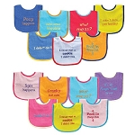 Baby Vision Bold Saying Bib 7pk