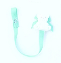 Baby Buddy Bear Pacifier Holder Green