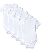 Baby Vision Bodysuit White  5-Pack 6-9 Months