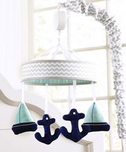 Wendy Bellisimo Sailboat Musical Mobile