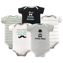 Luvable Friends  5 Pack LIttle Man Bodysuit 9-12 Months