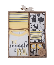 Baby Essentials Layette Set 4 Pieces The Snuggle is Real, 0-6 Months
