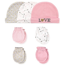 Hudson Baby 7 Pieces Cap and Mittens