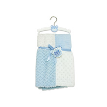 A.D.Sutton Patchwork Blanket Blue