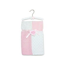 A.D.Sutton Patchwork Blanket Pink
