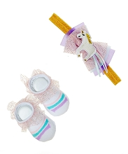Baby Essentials 2 Pieces Unicorn Headband and Socks