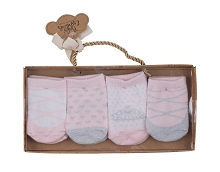 Baby Essentials 4 Pack Ballet Sock Set