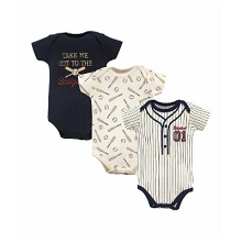 Little Treasure Baseball 3 Pack Bodysuit 9-12 Months