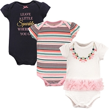Little Treasure 3 Pack Necklace  Bodysuit 3-6 Months
