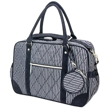 Wendy Bellissimo Quilted Duffle Diaper Bag Black-Grey
