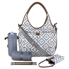 Oioi Multi Pocket Diaper Bag Grey