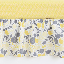 Balbao Baby Yellow Tulip Cotton Sateen Dust Ruffle
