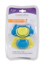 Bebek  Silicone Pacifier 2-Pack 3-6 Months