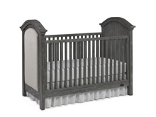 Dolce Babi Lucca Upholstered Traditional Crib, Weathered Grey