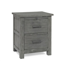 Docle Babi Lucca Nightstand, Weathered Grey