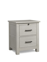 Docle Babi Lucca Nightstand, Sea Shell White