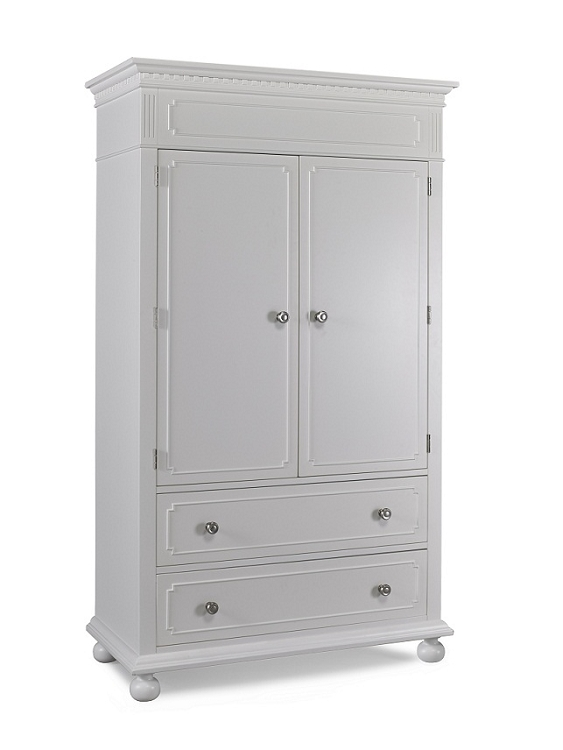 Dolce Babi Naples Armoire Snow White White Armoire With Drawers W2