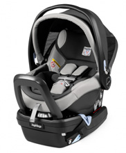 Peg Perego Primo Viaggio Nido 4/35  Infant  Car Seat Ice Light Grey Eco Leather