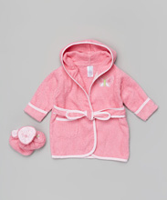 Frederic Lou Spasilk Terry Bathrobe with Booties, Pink Butterfly