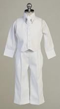 Onwar Communion Boy Suits  Husky White