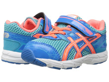 Asics 60% Off GT 1000 3 TS Running Shoe, Toddler -Turquoise/Hot Coral/Blue