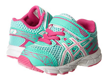 Asics 60% Off GT 1000 3 PS Running Shoe, Toddler -Mint/White/Hot Pink