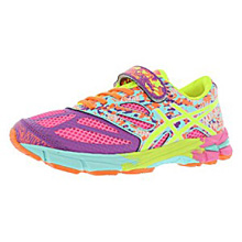 Asics 60% Off Noosa Tri 10 PS Running Shoes Hot Pink/Yellow/Blue