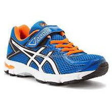 Asics 60% Off GT-1000 4 GS Running Shoes Electric Blue/White/Orange