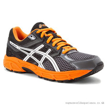 Asics 60% Off Running Kids Gel Contend 3 GS Carbon/White/Orange