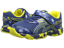 Asic 60% Off Turbo TS Running Shoes Blue/Blue/Flash Yellow